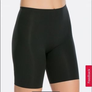 Spanx Thinstincts Black Mid Thigh Shapewear Shorts
